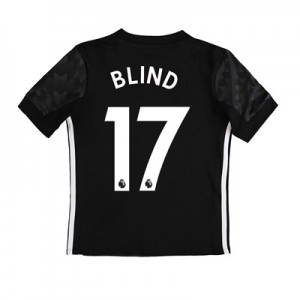 Manchester United Away Shirt 2017-18 – Kids with Blind 17 printing