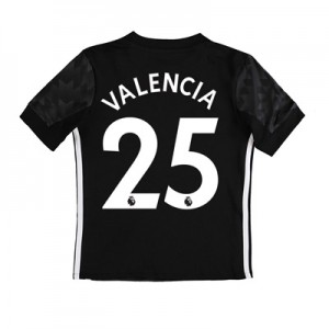 Manchester United Away Shirt 2017-18 – Kids with Valencia 25 printing