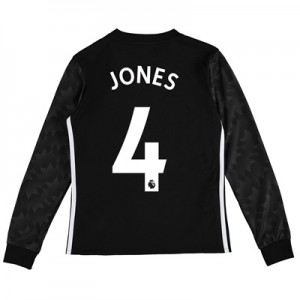 Manchester United Away Shirt 2017-18 – Kids – Long Sleeve with Jones 4