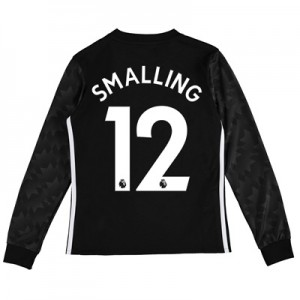 Manchester United Away Shirt 2017-18 – Kids – Long Sleeve with Smallin