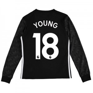 Manchester United Away Shirt 2017-18 – Kids – Long Sleeve with Young 1