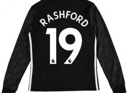 Manchester United Away Shirt 2017-18 – Kids – Long Sleeve with Rashfor