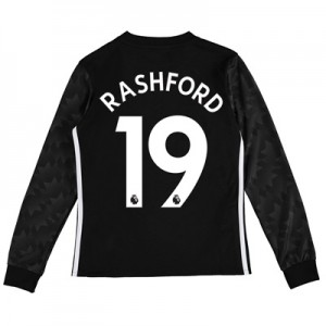 Manchester United Away Shirt 2017-18 – Kids – Long Sleeve with Rashfor