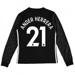 Manchester United Away Shirt 2017-18 – Kids – Long Sleeve with Ander H