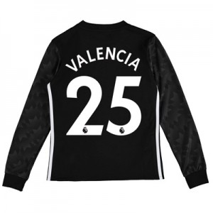 Manchester United Away Shirt 2017-18 – Kids – Long Sleeve with Valenci