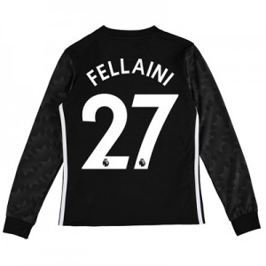 Manchester United Away Shirt 2017-18 – Kids – Long Sleeve with Fellain