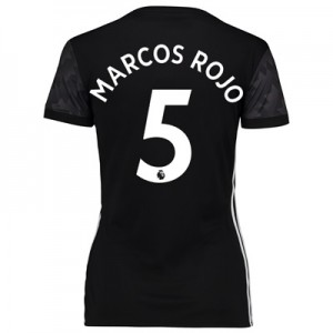 Manchester United Away Shirt 2017-18 – Womens with Marcos Rojo 5 print