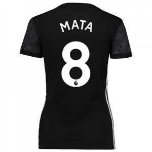 Manchester United Away Shirt 2017-18 – Womens with Mata 8 printing