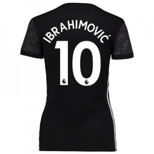 Manchester United Away Shirt 2017-18 – Womens with Ibrahimovic 10 prin