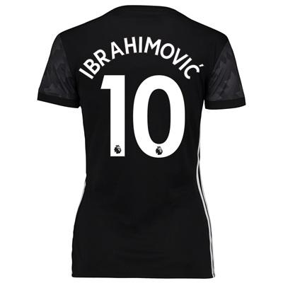 Manchester United Away Shirt 2017-18 – Womens with Ibrahimovic 10 prin