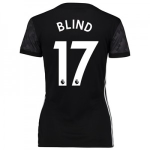 Manchester United Away Shirt 2017-18 – Womens with Blind 17 printing