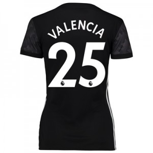 Manchester United Away Shirt 2017-18 – Womens with Valencia 25 printin