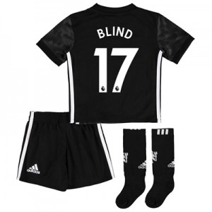 Manchester United Away Mini Kit 2017-18 with Blind 17 printing
