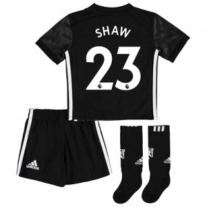 Manchester United Away Mini Kit 2017-18 with Shaw 23 printing