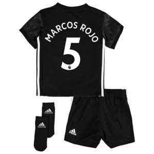 Manchester United Away Baby Kit 2017-18 with Marcos Rojo 5 printing