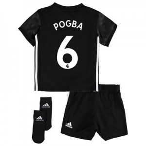 Manchester United Away Baby Kit 2017-18 with Pogba 6 printing