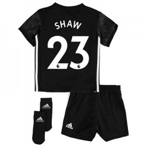 Manchester United Away Baby Kit 2017-18 with Shaw 23 printing