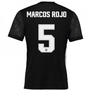Manchester United Away Cup Shirt 2017-18 with Marcos Rojo 5 printing