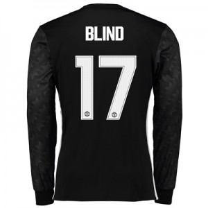 Manchester United Away Cup Shirt 2017-18 – Long Sleeve with Blind 17 p