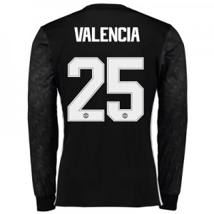 Manchester United Away Cup Shirt 2017-18 – Long Sleeve with Valencia 2