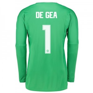 Manchester United Away Goalkeeper Cup Shirt 2017-18 with De Gea 1 prin