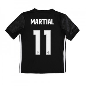 Manchester United Away Cup Shirt 2017-18 – Kids with Martial 11 printi