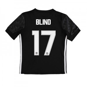 Manchester United Away Cup Shirt 2017-18 – Kids with Blind 17 printing