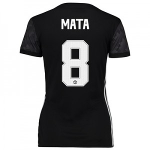 Manchester United Away Cup Shirt 2017-18 – Womens with Mata 8 printing