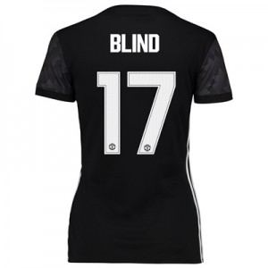 Manchester United Away Cup Shirt 2017-18 – Womens with Blind 17 printi