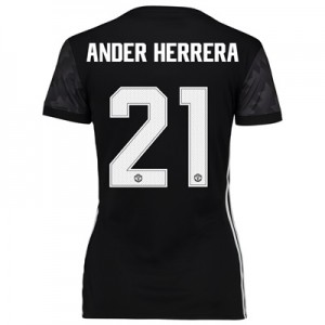 Manchester United Away Cup Shirt 2017-18 – Womens with Ander Herrera 2