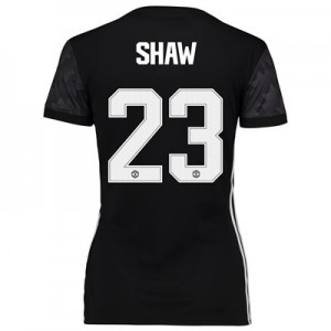 Manchester United Away Cup Shirt 2017-18 – Womens with Shaw 23 printin