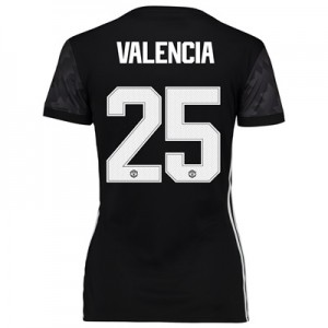 Manchester United Away Cup Shirt 2017-18 – Womens with Valencia 25 pri