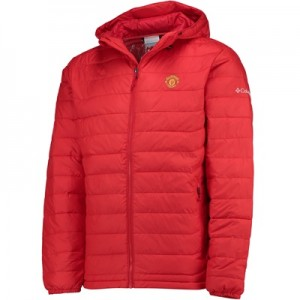 Manchester United Columbia Powder Lite Hooded Jacket – Cherrybomb – Me