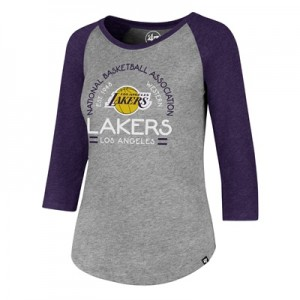 """Los Angeles Lakers 47 Club Raglan Long Sleeve T-Shirt – Womens"""