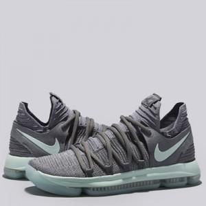 """Nike Zoom KD 10 Basketball Shoe – Cool Grey/Igloo-White – Mens"""