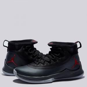 """Jordan Ultra Fly 2 Basketball Shoe – Black/University Red-Anthracite -"""