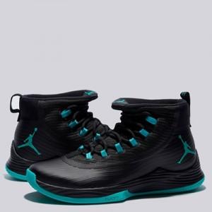 """Jordan Ultra Fly 2 Basketball Shoe – Black/Clear Jade-Black – Mens"""
