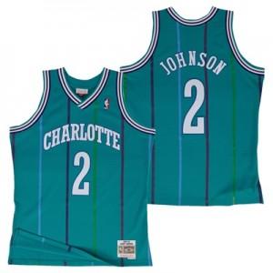 """Charlotte Hornets Larry Johnson Hardwood Classics Road Swingman Jersey"""