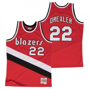 """Portland Trail Blazers Clyde Drexler Hardwood Classics Road Swingman J"""