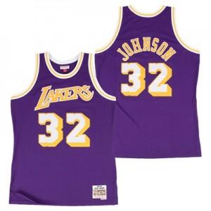 """Los Angeles Lakers Magic Johnson Hardwood Classics Road Swingman Jerse"""