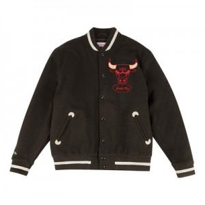 """Chicago Bulls Hardwood Classics In The Stands Varsity Jacket – Mens"""