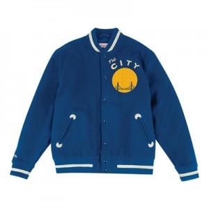 """Golden State Warriors Hardwood Classics In The Stands Varsity Jacket -"""