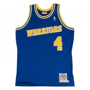 """Golden State Warriors Chris Webber 1993-94 Road Authentic Jersey By Mi"""