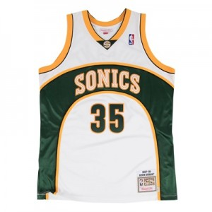 """Seattle Supersonics Kevin Durant 2007-08 Rookie Home Authentic Jersey """