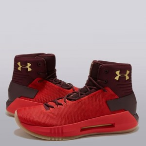 """Under Armour Drive 4 Basketball Shoe – Red – Mens"""