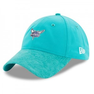 """Charlotte Hornets New Era 2017 Official On-Court 9TWENTY Adjustable Ca"""