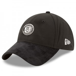 """Brooklyn Nets New Era 2017 Official On-Court 9TWENTY Adjustable Cap"""
