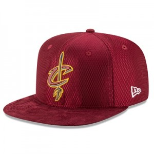 """Cleveland Cavaliers New Era 2017 Official On-Court 59FIFTY Fitted Cap"""