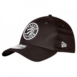 """Toronto Raptors Monochrome Team Logo New Era 39THIRTY Stretch Fit Cap"""