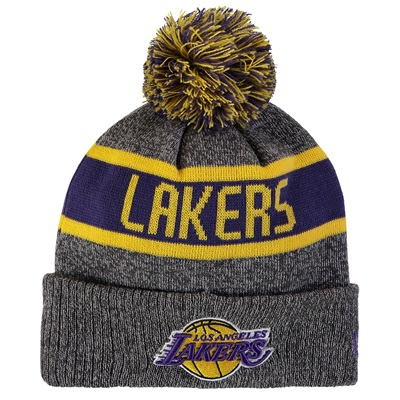 """Los Angeles Lakers New Era Marl Pom Knit"""